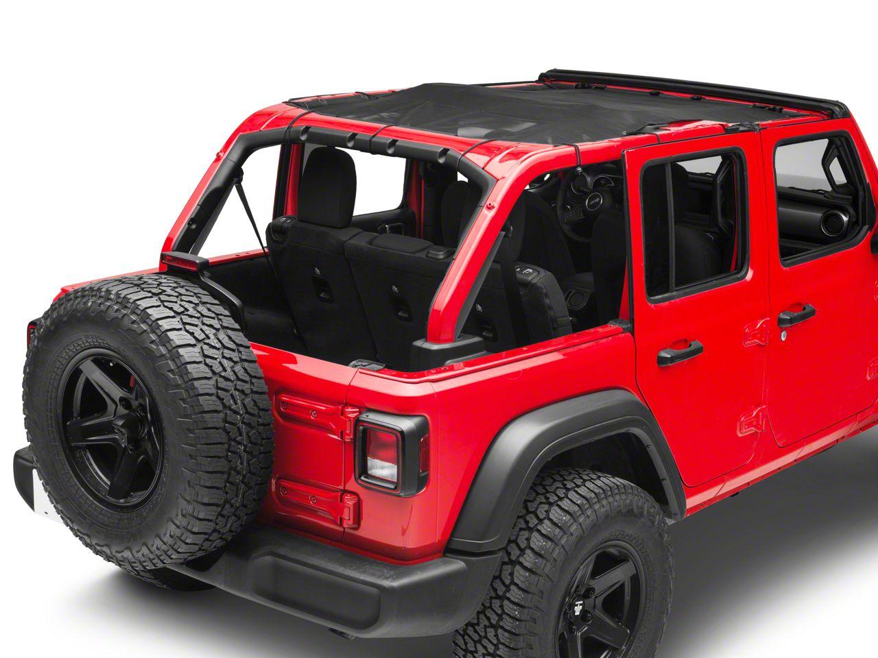 Steinjager Teddy Top Full Length Solar Screen Cover - Black (18-19 Jeep Wrangler JL 4 Door)
