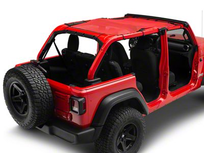 Steinjager Teddy Top Full Length Solar Screen Cover - Red (18-19 Jeep Wrangler JL 4 Door)