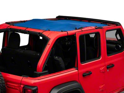 Steinjager Teddy Top Full Length Solar Screen Cover - Blue (18-19 Jeep Wrangler JL 4 Door)