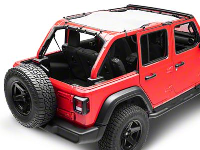 Steinjager Teddy Top Full Length Solar Screen Cover - Grey (18-19 Jeep Wrangler JL 4 Door)