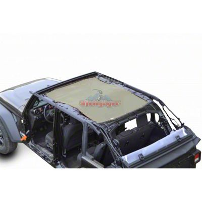 Steinjager Teddy Top Full Length Solar Screen Cover - Tan (18-19 Jeep Wrangler JL 4 Door)