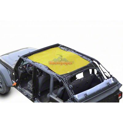 Steinjager Teddy Top Full Length Solar Screen Cover - Yellow (18-19 Jeep Wrangler JL 4 Door)