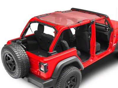 Steinjager Teddy Top Full Length Solar Screen Cover - Burgundy (18-19 Jeep Wrangler JL 4 Door)