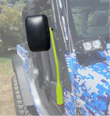 Steinjager Door Hinge Mounted Mirrors - Gecko Green (18-19 Jeep Wrangler JL)