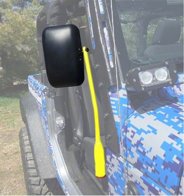 Steinjager Door Hinge Mounted Mirrors - Neon Yellow (18-19 Jeep Wrangler JL)