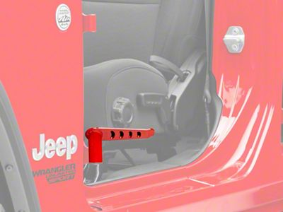 Steinjager Stationary Foot Pegs - Red Baron (18-19 Jeep Wrangler JL)