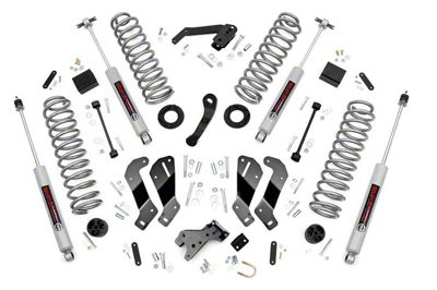 Rough Country 3.5 in. Suspension Lift Kit w/ Control Arm Drop Brackets (07-18 Jeep Wrangler JK 2 Door)