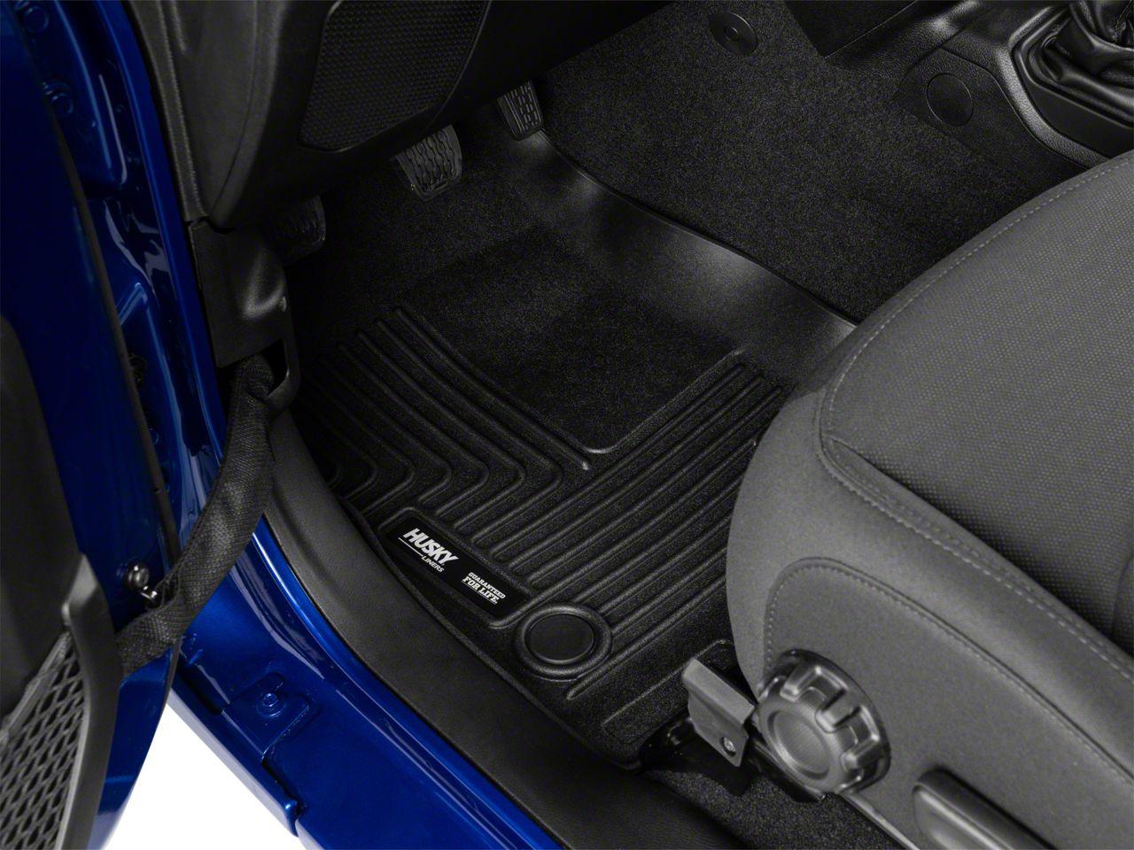Husky X-Act Contour Front Floor Liners - Black (18-19 Jeep Wrangler JL)