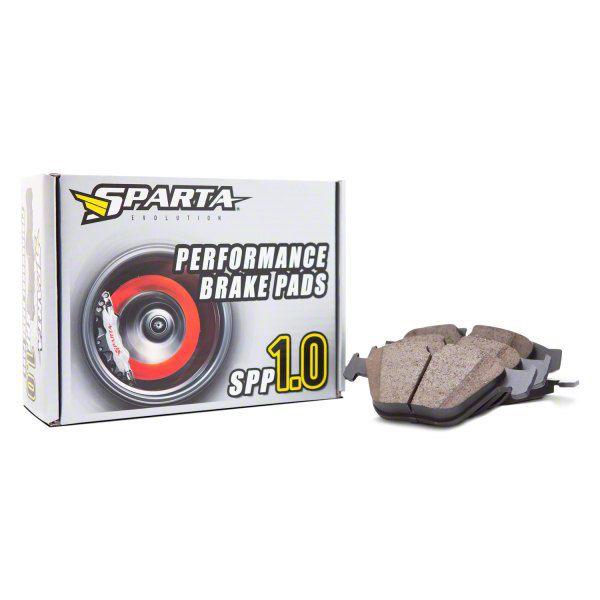 Sparta Evolution SPP 1.0 Performance Brake Pads - Front Pair (07-18 Jeep Wrangler JK)
