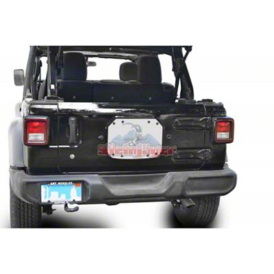 Steinjager Spare Tire Carrier Delete Plate - Cloud White (18-19 Jeep Wrangler JL)