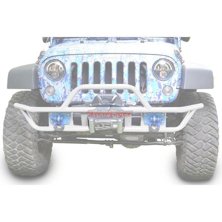 Steinjager Tube Front Bumper - Cloud White (07-18 Jeep Wrangler JK)