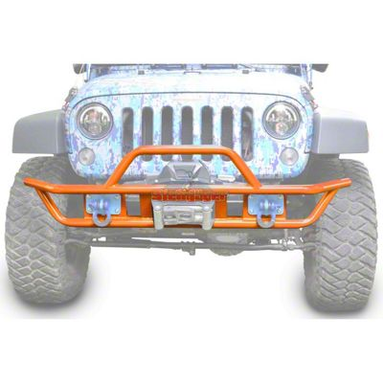 Steinjager Tube Front Bumper - Fluorescent Orange (07-18 Jeep Wrangler JK)