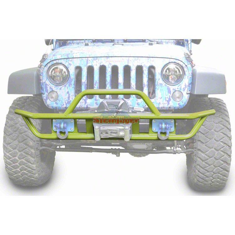 Steinjager Tube Front Bumper - Gecko Green (07-18 Jeep Wrangler JK)