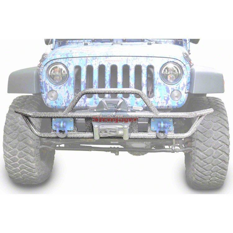 Steinjager Tube Front Bumper - Gray Hammertone (07-18 Jeep Wrangler JK)
