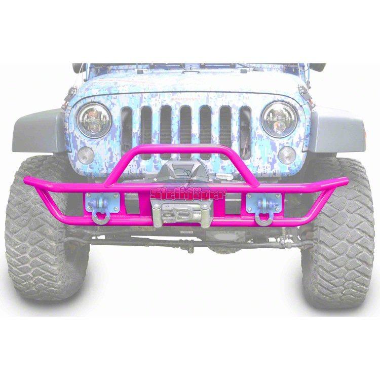 Steinjager Tube Front Bumper - Hot Pink (07-18 Jeep Wrangler JK)
