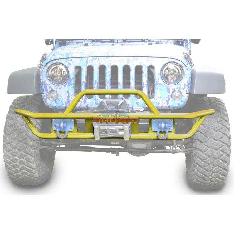 Steinjager Tube Front Bumper - Lemon Peel (07-18 Jeep Wrangler JK)