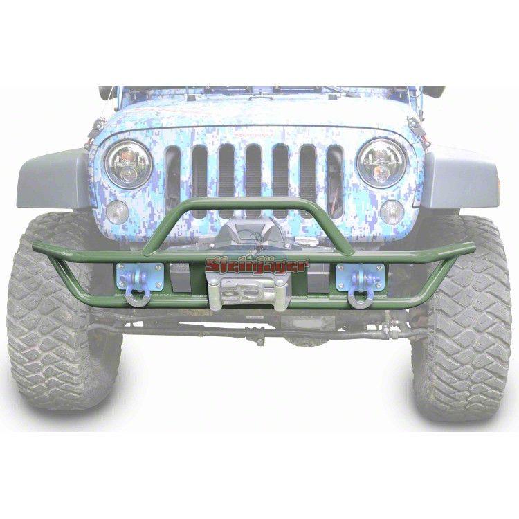 Steinjager Tube Front Bumper - Locas Green (07-18 Jeep Wrangler JK)