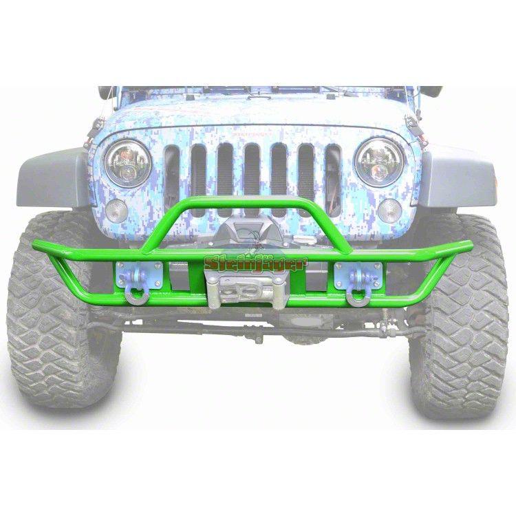 Steinjager Tube Front Bumper - Neon Green (07-18 Jeep Wrangler JK)