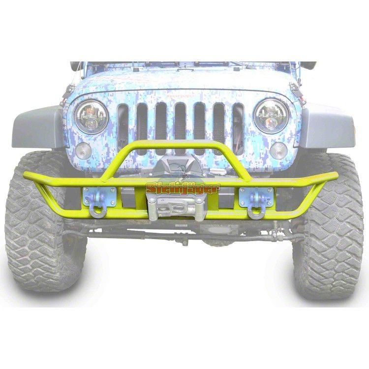 Steinjager Tube Front Bumper - Neon Yellow (07-18 Jeep Wrangler JK)