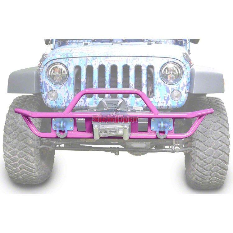 Steinjager Tube Front Bumper - Pinky (07-18 Jeep Wrangler JK)