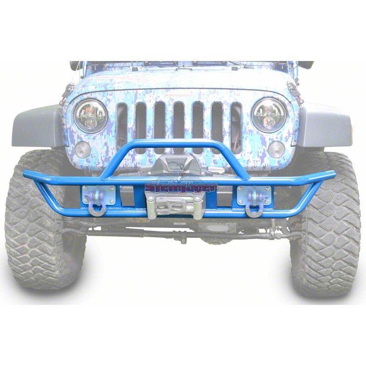 Steinjager Tube Front Bumper - Playboy Blue (07-18 Jeep Wrangler JK)
