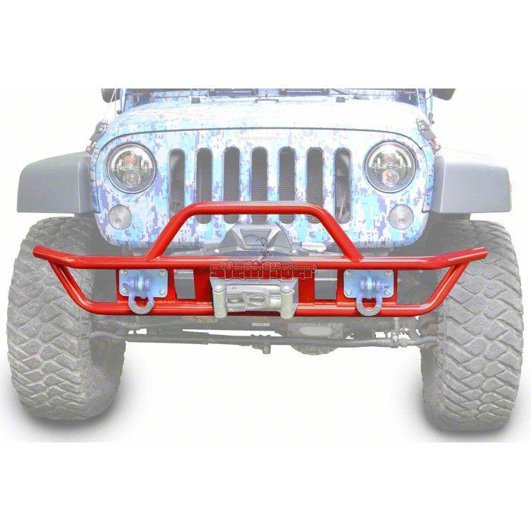 Steinjager Tube Front Bumper - Red Baron (07-18 Jeep Wrangler JK)