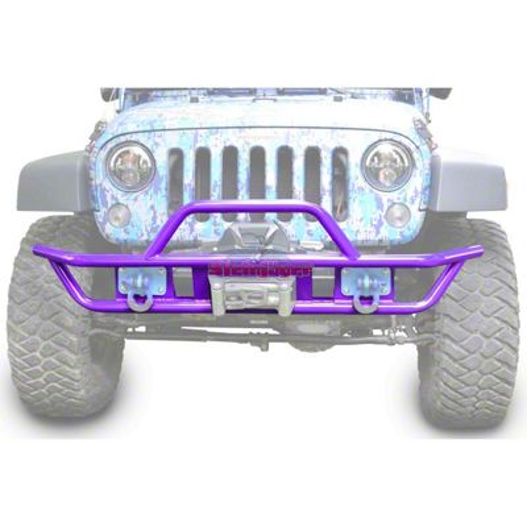 Steinjager Tube Front Bumper - Sinbad Purple (07-18 Jeep Wrangler JK)