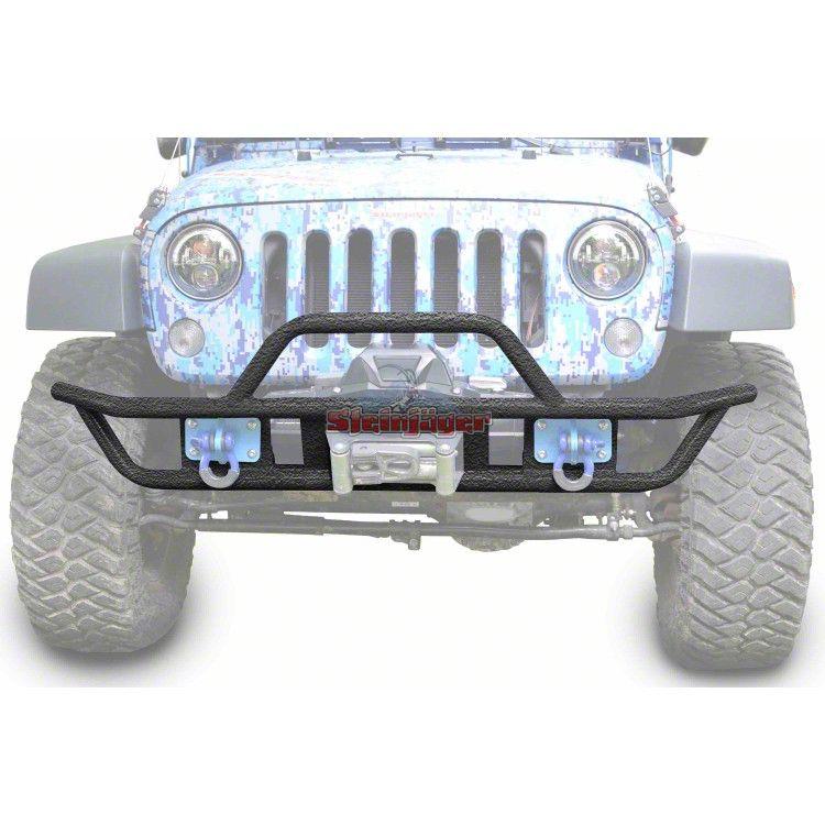 Steinjager Tube Front Bumper - Textured Black (07-18 Jeep Wrangler JK)