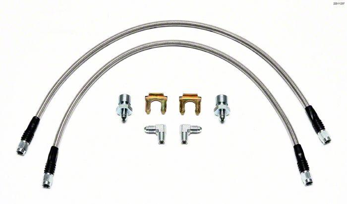 Wilwood Flexline Brake Line Kit - Front (07-18 Jeep Wrangler JK)