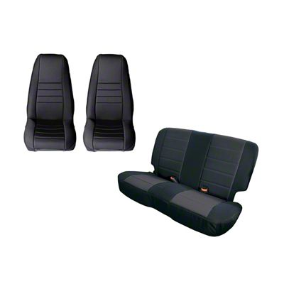 Rugged Ridge Seat Cover Kit - Black (87-90 Jeep Wrangler YJ)