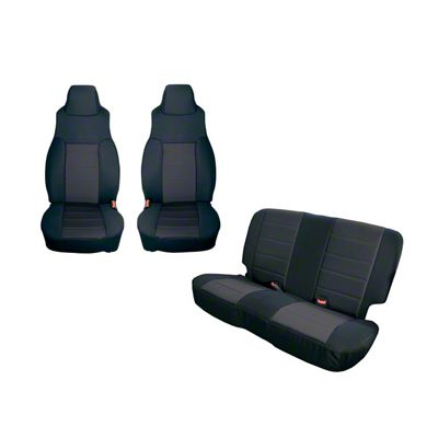 Rugged Ridge Seat Cover Kit - Black (91-95 Jeep Wrangler YJ)