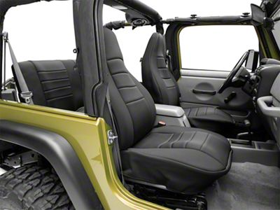 Rugged Ridge Seat Cover Kit - Black (97-06 Jeep Wrangler TJ)