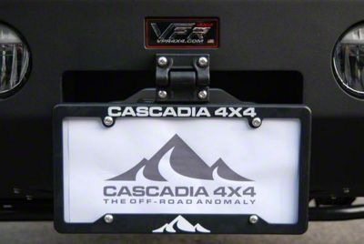 Cascadia 4x4 Flipster Universal Flip Up/Flip Down License Plate Mounting System
