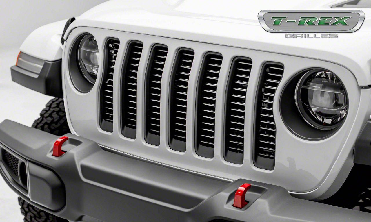 T-REX Billet Series Round Grille Insert - Silver (2018 Jeep Wrangler JL)