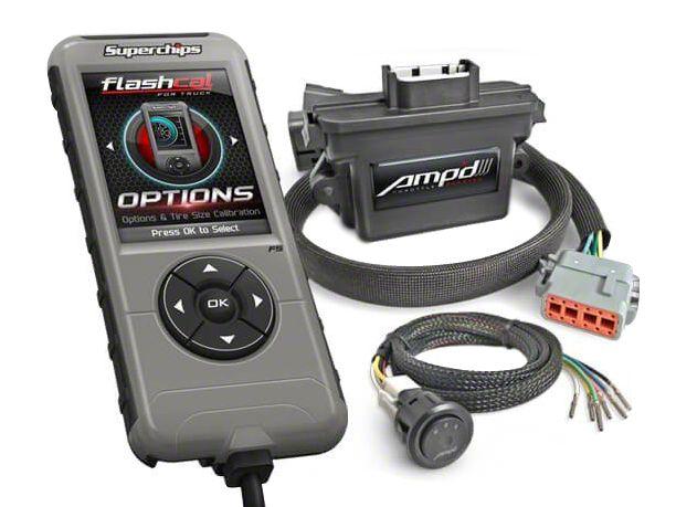 Superchips Flashcal & Amp'D Throttle Booster Performance Package (07-18 Jeep Wrangler JK)