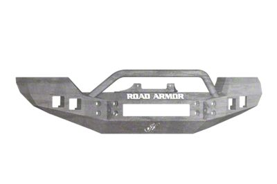 Road Armor Stealth Front Bumper w/ Pre-Runner Guard - Raw (07-18 Wrangler JK)