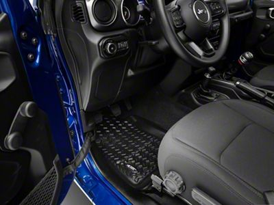 Rugged Ridge All-Terrain Front Floor Mats - Black (18-19 Jeep Wrangler JL)