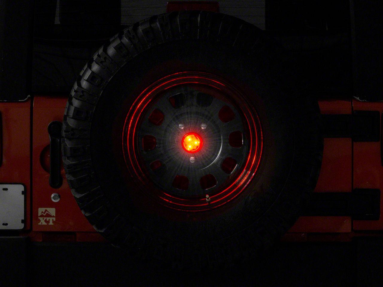 Rock-Slide Engineering Spare Tire Mount Third Brake Light (87-18 Wrangler YJ, TJ & JK)