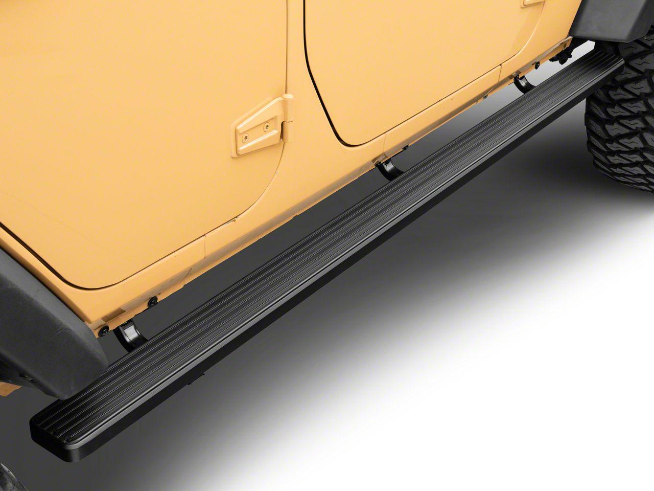 4 in. iStep Running Boards - Black (07-18 Wrangler JK 4 Door)
