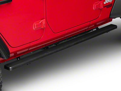 APS Auto 4 in. iStep Running Boards - Black (18-19 Jeep Wrangler JL 4 Door)