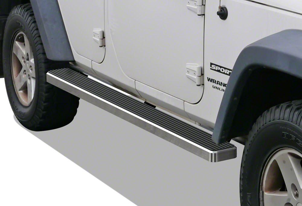 5 in. iStep Running Boards - Hairline Silver (07-18 Wrangler JK 4 Door)