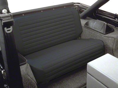 Bestop Rear Seat Covers - Black Denim (87-95 Jeep Wrangler YJ)