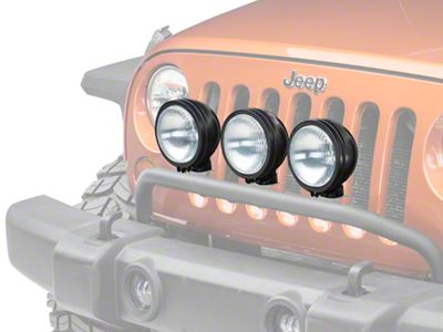 Rugged Ridge 6 in. Round HID Off-Road Fog Lights - Black - Set of Three