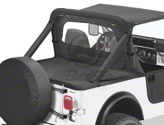 Bestop Duster Deck Cover - Black Denim (87-91 Jeep Wrangler YJ w/ Hard Top)