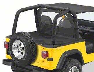 Bestop Duster Deck Cover - Black Denim (92-95 Jeep Wrangler YJ w/ Hard Top)