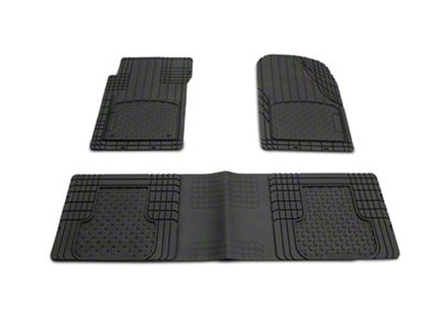 Weathertech AVM Trim-to-Fit 3-Piece Front & Rear Liners - Black (87-19 Jeep Wrangler YJ, TJ, JK & JL)