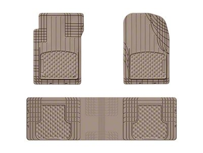 Weathertech AVM Trim-to-Fit 3-Piece Front & Rear Liners - Tan (87-19 Jeep Wrangler YJ, TJ, JK & JL)