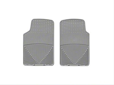 Weathertech Rubber Front Floor Mats - Gray (87-06 Jeep Wrangler YJ & TJ)