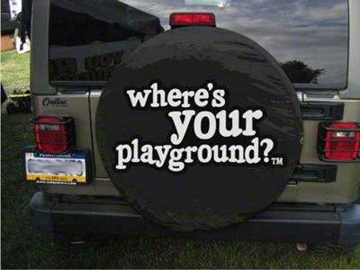 Where's Your Playground Spare Tire Cover (87-18 Jeep Wrangler YJ, TJ, JK & JL)