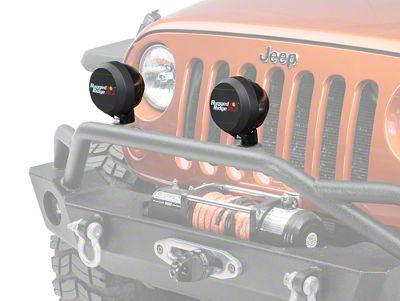 Rugged Ridge 5 in. HID Off-Road Light Cover - Black (87-18 Jeep Wrangler YJ, TJ, JK & JL)
